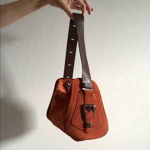 Hogan hobo style bag in suede and leather.